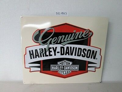 OEM Harley-Davidson Genuine w/Banner Metal Tin Sign Embossed New Shop Bar Garage