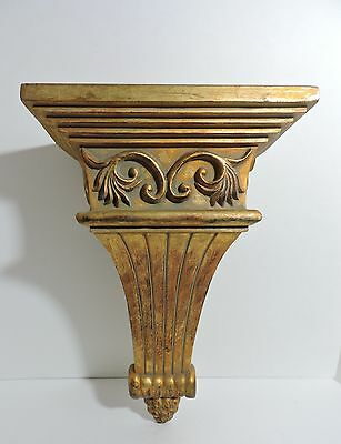 Large Antique Gold Corbel Wall Shelf Sconce 15""