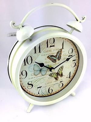 Large Vintage Style Butterfly Clock Alarm Bell Style MHH055