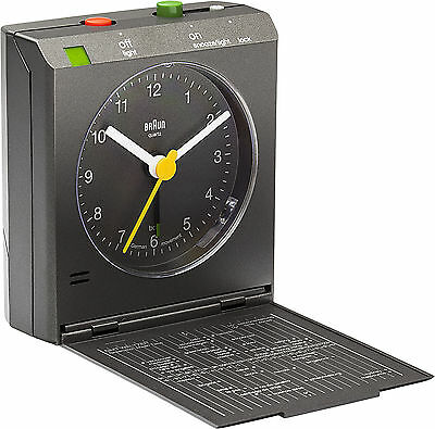Braun Motion Activated Travel Alarm Clock - Grey BNC005GYGY