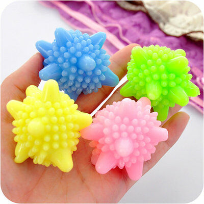 5pc Solid Resin Dryer Ball Washing Laundry Drying Fabric Fabrics Softener Clean
