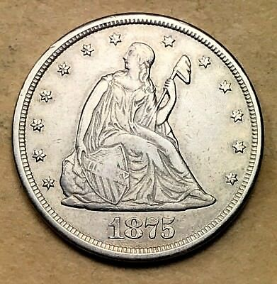 1875-CC Twenty Cent Piece XF/AU