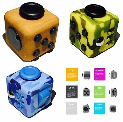 Fidget Cube Children Desk Kids Toy Adults Stress Relief Cubes ADHD Toy Fun Gift