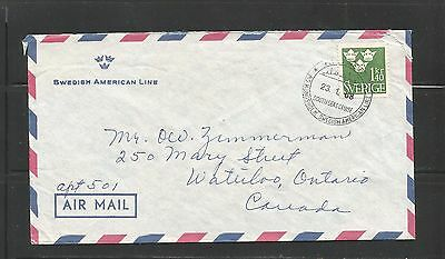 Swedish American Lines Postmarked Cover
