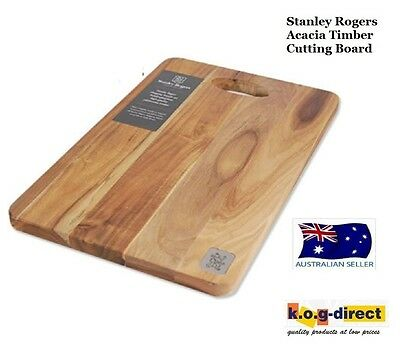 STANLEY ROGERS ACACIA TIMBER WOOD CHOPPING CUTTING BOARD 38cm X 25cm