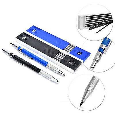 2mm 2B Lead Holder Automatic Mechanical Draughting Pencil w/ 12Pcs Leads Set
