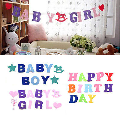 Its A Shower Banner Garlands Girl Paper For Baby Birthday Party Decor Photo Prop