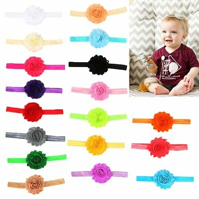 18pcs Cute Girl Baby Toddler Infant Flower Headband Hair Bow Band Accessories US