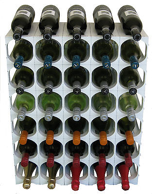 CellarStak White Plastic Wine Rack - 35/36 Bottles