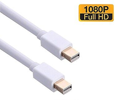 6 FT Thunderbolt to Thunderbolt Cable -Mini DP to Mini DP w/Audio Output