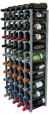 CellarStak 55/60 Bottle Plastic Modular Wine Rack - Silver - Free Delivery