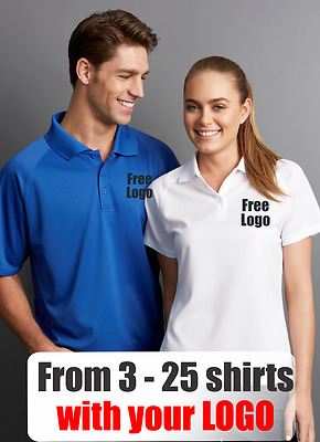 From 3 - 25 shirts Ladies Sprint Polo with Your Embroidered LOGO (Biz P300LS)