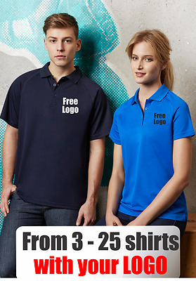 From 3 - 25 shirts Men Sprint Polo with Your Embroidered LOGO (Biz P300MS)