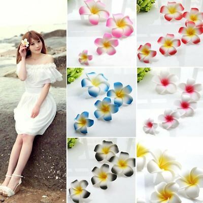 12 PCS Foam Floating Frangipani Plumeria Hawaiian Flower Head Pond 7cm / 9cm