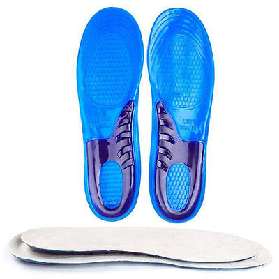 1Pair Gel Orthotic Arch Support Massaging Insoles Insert Sport Shoe Pads New
