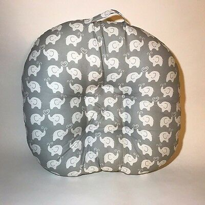 Boppy Newborn Baby support Lounger Pillow -Elephant love Grey/white