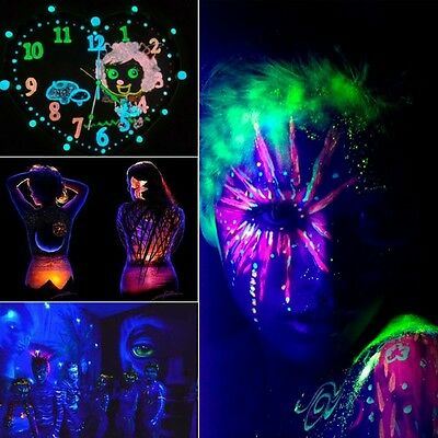 12 Colors Acrylic Halloween Body Skin Luminous Painting Stage Glow in Dark Paint
