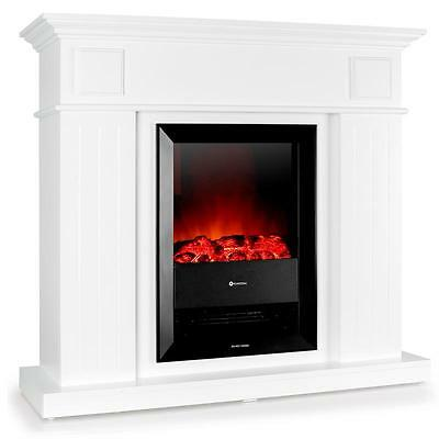 New Powerful Electric Fireplace White Wood Surround Built In Fan Heating 2000W