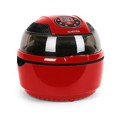 Fat Free Air Fryer Airfryer 9L Electric Fryers 1400W Halogen Oven Cooker - Red