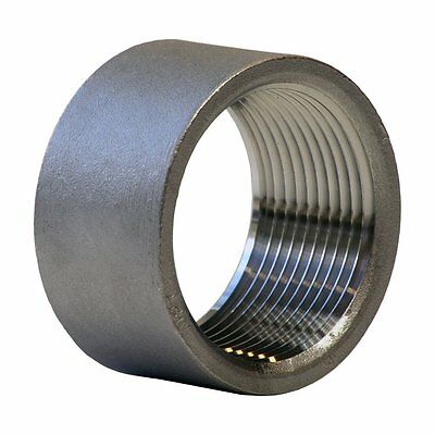 "Stainless Steel 304 Cast Pipe Fitting, Half Coupling, Class 150, 1-1/2"" NPT X"