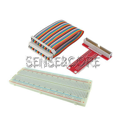 T Type GPIO Extension Board Raspberry Pi 2 B Kits+Breadboard+40Pin Rainbow Cable