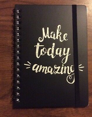 A6 Spiral Bound 80 Page Lined Notebook Inspirational - Make Today Amazing - NEW