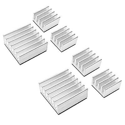10pcs Aluminum Heat Sink for StepStick A4988 IC Thermal Adhesive 8.8*8.8*5mm