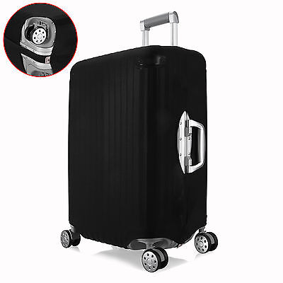 "Pure Black Size L Elastic Travel Luggage Suitcase Cover Protector For 26""~28"""
