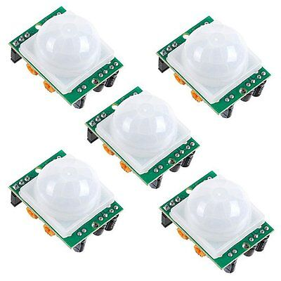 5 Pack HC-SR501 PIR Pyroelectric IR Infrared Motion Sensor for Arduino, Pi, and