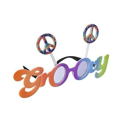 Groovy 60's Tinted Glasses - One Pair of Colourful Party Fun Shades  - 250476
