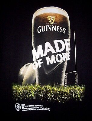 """GUINNESS BEER """"Always a Great Match....Made of More"""" MEN'S (S) COTTON T-SHIRT VG"""