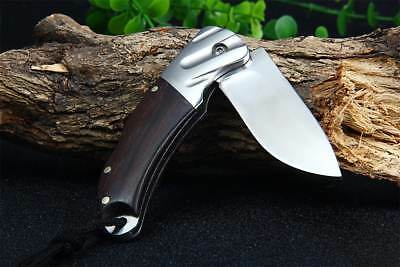 Browning Pocket Knife with Liner Lock Wooden Handle Coltello Tasca