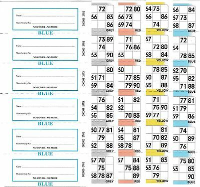 4 Page (4 Game) Bingo Books, 6 to View, 50 Books (300 Booklets)