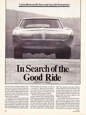 1970 Plymouth Road Runner Superbird  ~  Great 4-Page Article / Ad