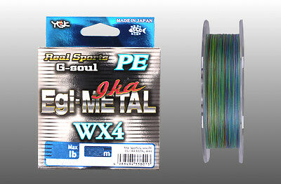 YGK Real Sports G-soul PE EGI & METAL WX4 150m Braided Line Select LB