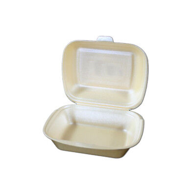 500 Lunchboxen, Creme, 185x155x80mm, IP9, HP2, Menüboxen, Menübox, Lunch Boxen
