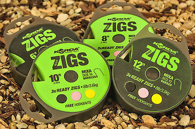 Avid Carp Ready Tied Zig Rig Kit Barbless or Barbed