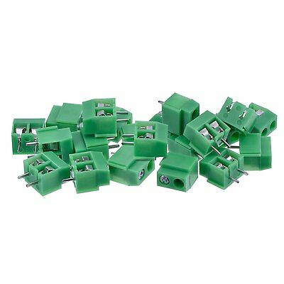 PCB Mount Screw Terminal Block Connector, 100 Pack 2 Pole 5 mm Pitch, 10A 300V