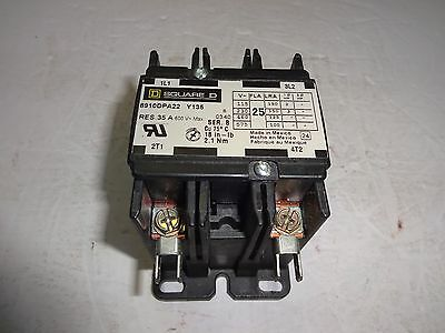 Square D 8910Dpa22 Definite Purpose Contactor 35 Amp, 600V