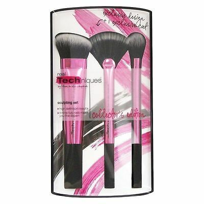 Real Techniques Makeup Brush Sculpting Set 3 Pieces Brush Set Free Shipping