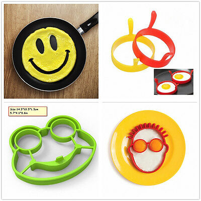 Silicone Smile Frog Omelette Egg Rings Pancake Mold Fried Egg Mould Kitchen Tool