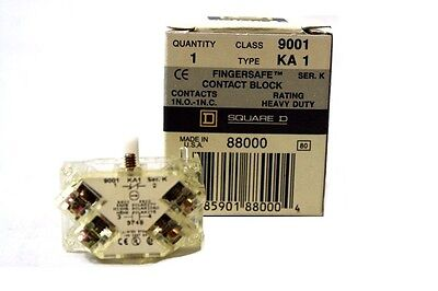 Square D 88000 FingerSafe Contact Block 9001 KA1 New