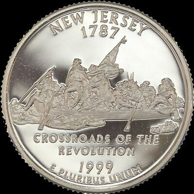 """1999 S New Jersey State Quarter PROOF """"IMPERFECT DISCOUNTED"""""""