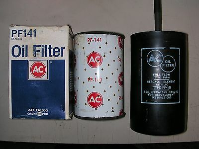 1958-1967 Corvette Nos Oil Filter Canister & Pf-141 --- Gm Part # 5574535