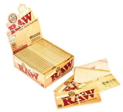 RAW KingSize Supreme Cigarette Rolling Papers Box of 24 packs unfolded king size