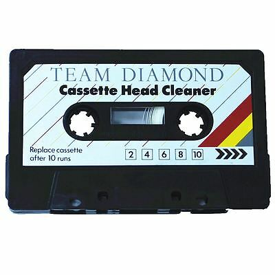 Audio Cassette Head Cleaner Tape Player Dust Cleaning Clear Sound - NEW