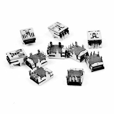 Uxcell Mini USB 5 Pin Female Socket DIP Connector, 10 Pieces