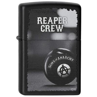 Zippo Lighter Sons of Anarchy Reaper Crew Black Matte 28677 Free Shipping Pocket