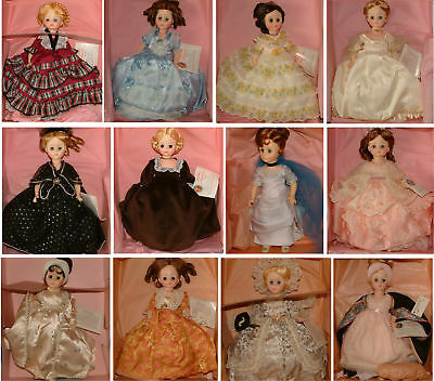 Madame Alexander Presdential Dolls Random Lot of 4, Our choice
