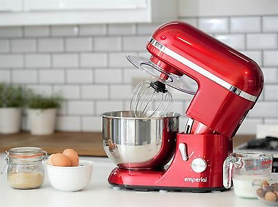 Emperial 1300W Food Stand Mixer 5.2L Mixing Bowl - Low Noise With Splash Guard
